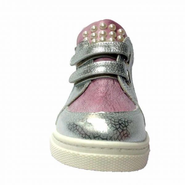 Кроссовки Minimen розовые с серебристыми вставками