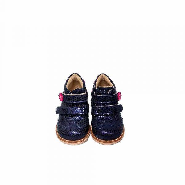 Ботинки Dr.Mymi темно-синее с розовым цветочком